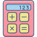 calc, calculate, calculating, calculation, calculator, digital icon
