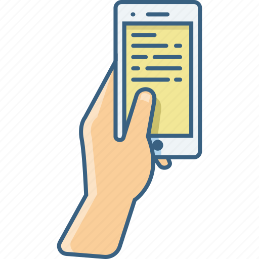 message, mobile, phone, smartphone, telephone, text icon