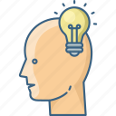 bulb, business, creative, human, idea icon