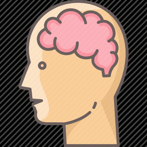 brain, human, idea, man, people, thought, user icon