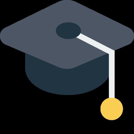cap, education, hat, school icon