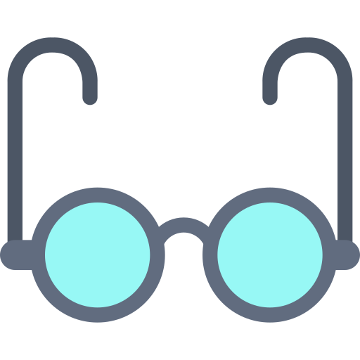 eye, glasses, office, vision icon