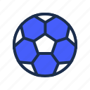 blue, exercise, football, soccer, sports, workout icon