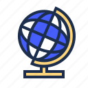 blue, earth, globe, history, world icon