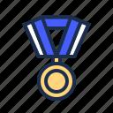 achievement, award, medal, prize, victory, win, winner