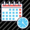 class calendar, class deadline, class events, class planner, class reminder icon