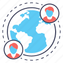 global communication, global community, global network, international network, worldwide communication icon