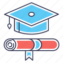 academic degree, degree, diploma, graduate, graduation ceremony icon