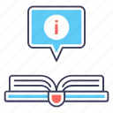 book info, book information, encyclopedia, faq, guidebook icon