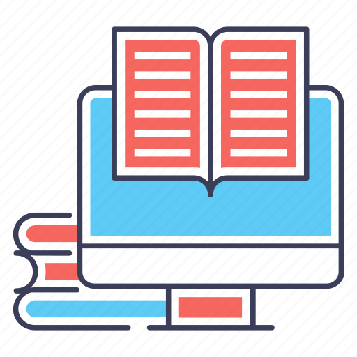 online education, online reading, open book, reading book, story book, textbook icon