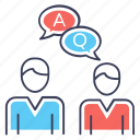 chatting, comments, faq, forum discussion, question answer icon