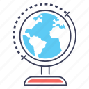 earth globe, geographical globe, geography, globe, globe map, planet map icon