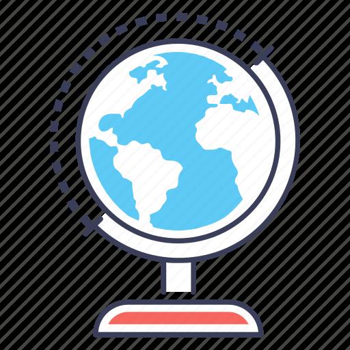 earth globe, geographical globe, geography, globe, globe map, planet map icon