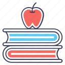 books, education, fruitful education, healthy education, healthy knowledge, study icon