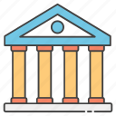 bookroom, books collections, books repository, library, library building icon