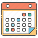 calendar, calender record, date, planner, yearly calendar icon