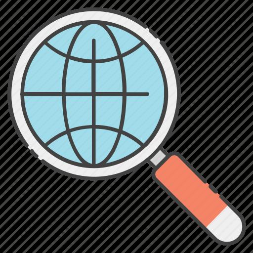global analysis, global searching, international search, world analysis, worldwide exploration icon