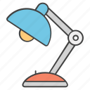 desk lamp, lamp, light, study lamp, table lamp icon