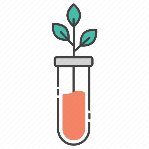biological science, botanical study, botany, natural science, sprout tube, tube plant icon