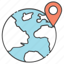 destination, geolocation, global location, international location, worldwide location icon