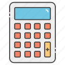 accounting, calculation, calculator, digital calculator, maths icon
