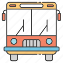 conveyance, school bus, transportation, travel, vehicle icon