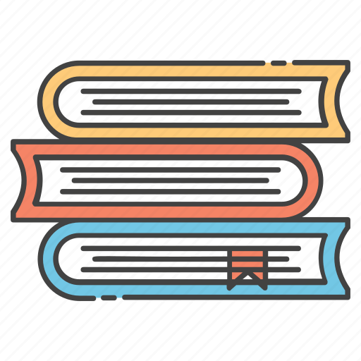 archives, books stack, library, novels, reading books icon