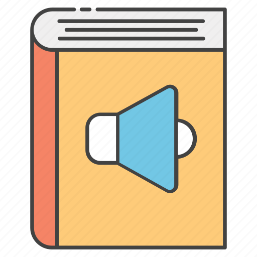audio book, ebook, elearning, online education, online study icon