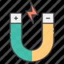 experimental magnet, hoof shoe, horseshoe luck, horseshoe magnet, magnet, magnet attraction icon