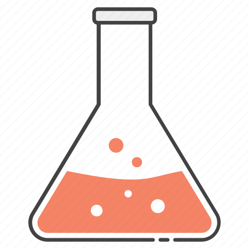 conical flask, elementy flask, experiment tool, lab apparatus, lab beaker icon