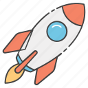launch, missile, projectile, rocket, spacecraft icon