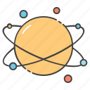 astronomy, galaxy, orbit, planet, planetary system, science, space icon