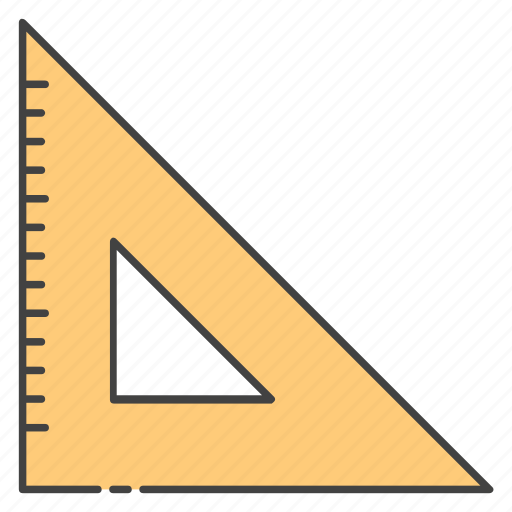 geometry tool, measurement ruler, measuring equipment, scale, triangle ruler icon
