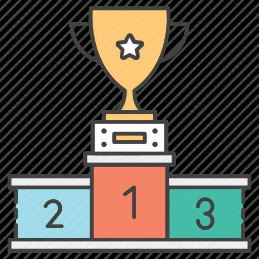 award ceremony, medal rostrum, podium, winner podium, winners ranking icon