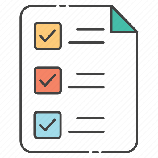 agenda, checklist, survey, task list, todo list icon