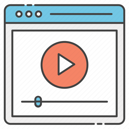 computer video, modern education, video guide, video lesson, video tutorial icon