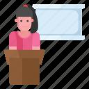 instructor, mentor, orator, professor, teacher lecture icon