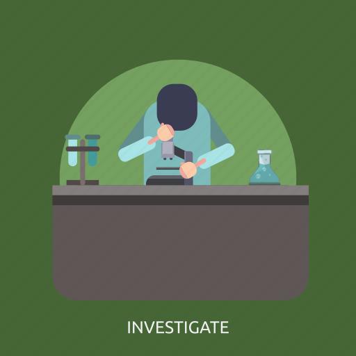 investigate, man, microscope, research, science icon