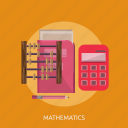 abacus, book, calculator, map, mathmatics, pencil icon