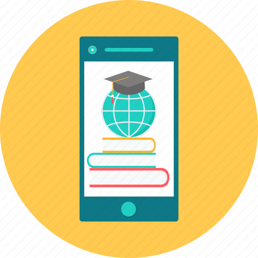 egraduate, elearning, mobile, mobile learning, phone, smartphone, technology icon