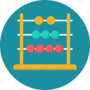 abacus, calculate, calculating tool, counting frame, frame, maths, tool icon