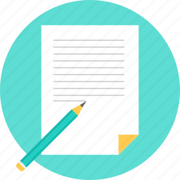 document, list, note, paper, text, write, writing icon