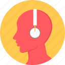 audio, ear phone, earphone, headphone, listen, listening, music icon
