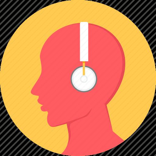 audio, ear phone, earphone, headphone, listen, listening, music icon