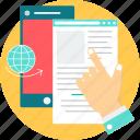 epub, e-book, ebook, epublish, file, format, publish icon