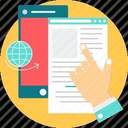 e-book, ebook, epub, epublish, file, format, publish icon