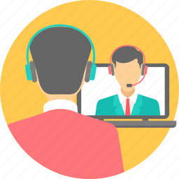 chatting, class, hangout, online, online class, online classes, video chat icon