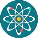 atom, chemistry, connection, education, physics, research, science icon