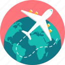 aeroplane, aircraft, airplane, education tourism, flight, tour, travel icon