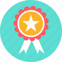 achievement, medal, prize, rating, reward, star, win icon